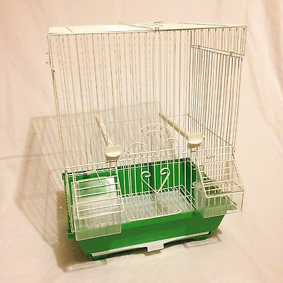 Green Bird Cage, Canary Finch Mule Small Birds, Pet Display Carry Spray Training