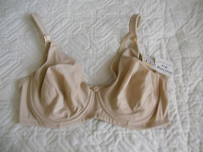 NWT Seamless Underwire Nursing Bra by QT Intimates,Style 390 Nude size 40C