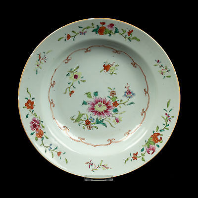 China 18. Jh. Teller A Chinese Famille Rose Porcelain Dish - Cinese Chinois Qing