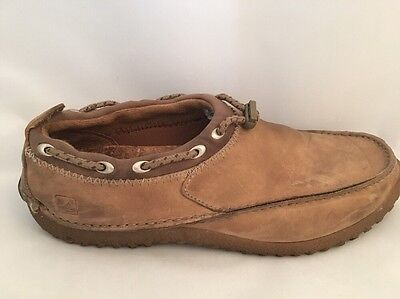 SPERRY Top-Sider Size 9M Boat Moc Collection Tan Leather Shoes Mens