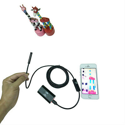 Waterproof WiFi Borescope Inspection Endoscope Snake Tube Camera For iPhone 7 6s