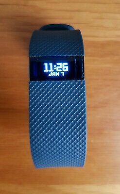 Fitbit Charge HR small blue pedometer activity tracker 5 months old