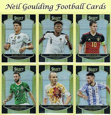 Panini SELECT SOCCER 2016-2017 SILVER PARALLEL 'Terrace' Cards #1 to #100