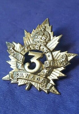 3rd Special Service Company Cap Badge Canadian Provost