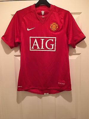 Official Manchester United Fc Red Home Shirt Season 2007 - 2009 Size Small