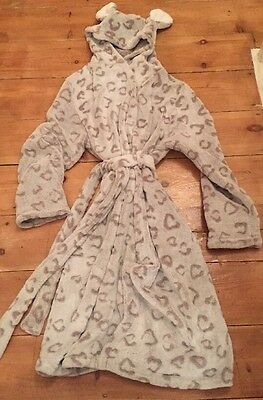 Girls Hooded Dressing Gown Size 13 Years