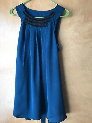 Liz Lange Maternity Size Large Sleeveless Blouse Ties In Back