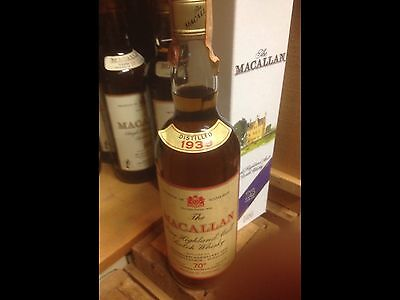 Whisky Macallan Season 1939 Great Awesome Bottle Red Label