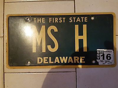 Plaque d immatriculation Delaware MS-H USA US License Plate