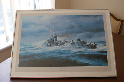 HMS Kelly by Marine and Aviation Artist Robert Taylor