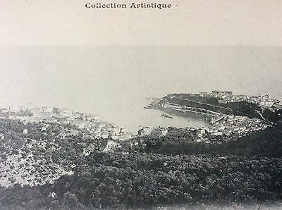 Antique Pc Good View The Principality Of Monaco From Hills Above Giletta Nice