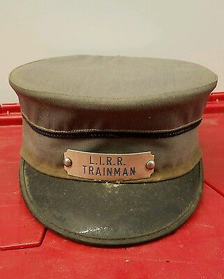 Vintage Defunct Long Island Railroad Trainman Hat Badge LIRR