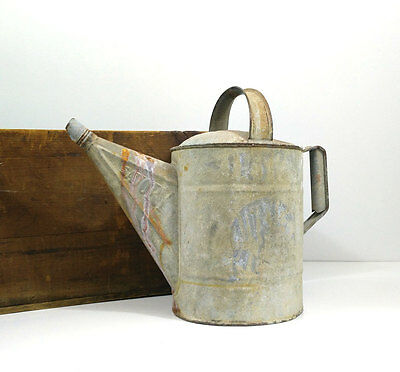 Vintage Savory galvanized watering can