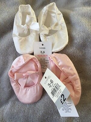 Baby's Pink And White Booties. 3-6months. Brand New