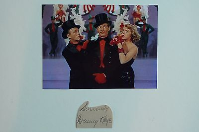 DANNY KAYE SIGNED AUTOGRAPH and WHITE CHRISTMAS photo