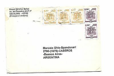 Andorra-Postal History Item-Cover Sent To Argentina- !!! Very Scarce