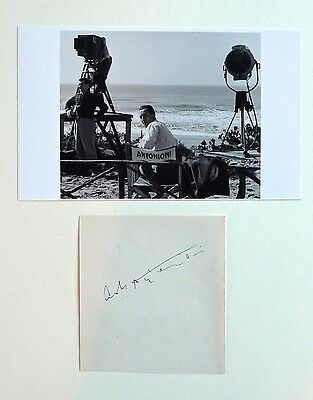 Michaelangelo Antonioni SIGNED AUTOGRAPH with Photo BLOW-UP director