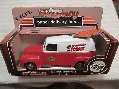 die-cast Ertl 1950 Chevy Panel Delivery Truck coin bank toy with box lot 3