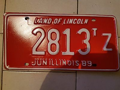 Plaque d immatriculation Illinois 2813 USA US License Plate