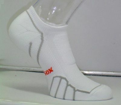 Vitalsox Running Ghost Ultra Light Weight Sock, White, Large VT0510 FreeShipping
