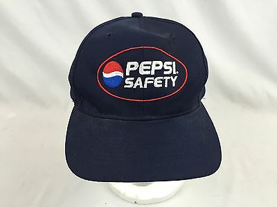 Vintage Pepsi Cola Cap Snapback Hat Snap Back Safety Employee