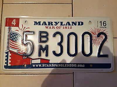 Plaque d immatriculation Maryland 5BM3002 USA US License Plate