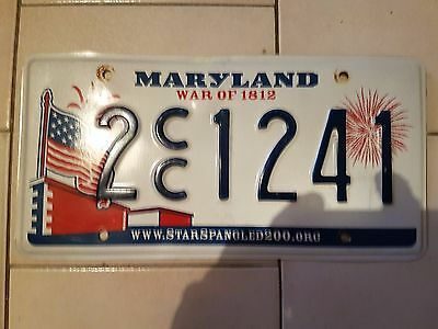 Plaque d immatriculation Maryland 2CC1241 USA US License Plate