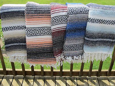 Authentic Mexican Falsa Blanket Durable Comfortable and Cozy Yoga and Comforter