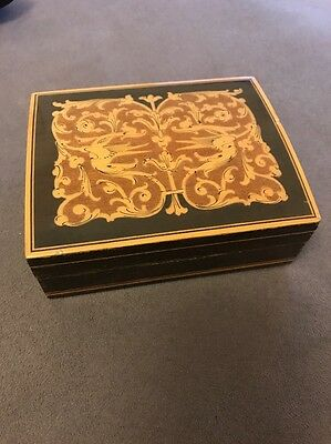 Small Vintage Decorative Wooden Box