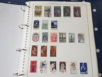 Canada & Usa stamp album with many 100's of mostly used stamps incl better items