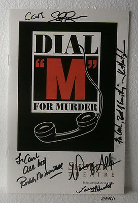 """Roddy McDowall """"Dial """"M"""" for Murder""""  Signed: 5x's  SHUBERT THEATRE  1996"""