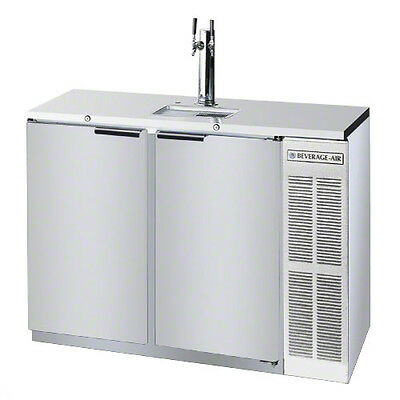 Beverage-Air 12.4 CuFt Two Keg S/S Direct Draw Shallow Depth Beer Cooler