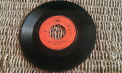 """BOB DYLAN - THE TIMES THEY ARE A-CHANGIN' -  7"""" single"""