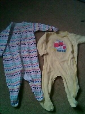 next baby girl sleepsuits 6-9 months