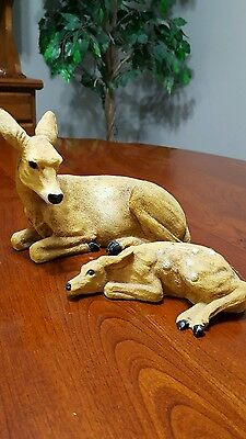 HOUSE OF LLOYD Doe and Fawn resin figurines