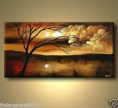 Hot Sell MODERN ABSTRACT HUGE WALL ART OIL PAINTING ON CANVAS (No frame) 12x24