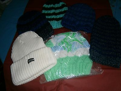 Ladies & Mens X6 Wooly Hats Brand New