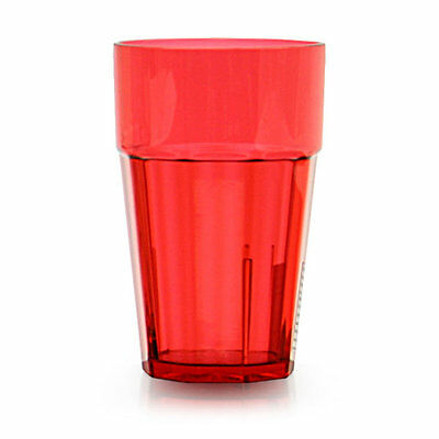 Thunder Group PLPCTB124RD 24 oz. Red Plastic Diamond Tumbler - Case of 12