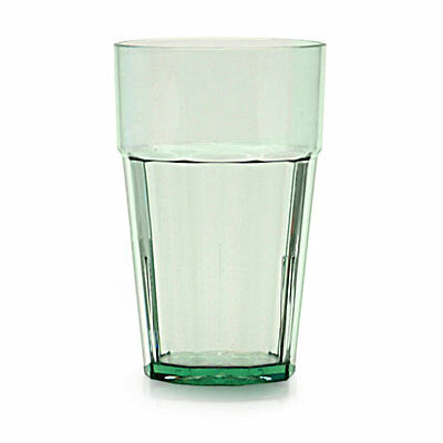 Thunder Group PLPCTB124GR 24 oz. Green Plastic Diamond Tumbler - Case of 12