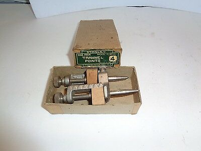 STANLEY # 4 TRAMMEL POINTS WITH THE ORIGINAL BOX AND WOOD GOOD CONDITION lot 450
