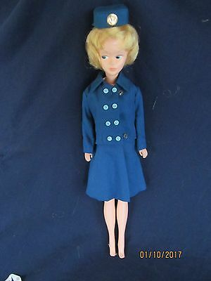 Vintage Mary Make-Up Doll In American Airlines Stewardess Outfit