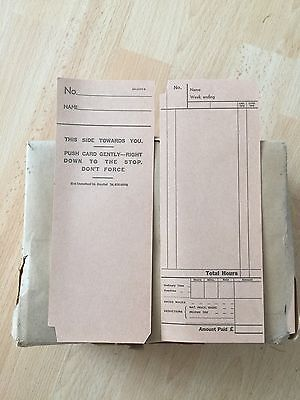 Blick Time Recorder Clocking In Cards X 1000 Vintage Industrial
