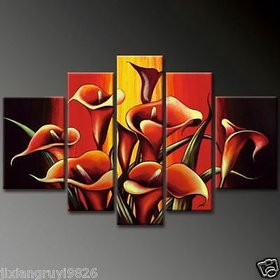 Hot sell new 5pc Huge WALL Modern Abstract on Canvas decorative Oil Painting Art