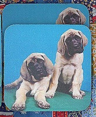 MASTIFF PUPPIES Rubber Backed Coasters #0929