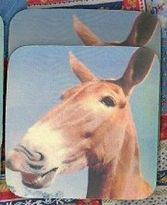 MULE, SMILING Rubber Backed Coasters #0727
