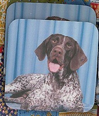 GERMAN SHORTHAIR POINTER Rubber Backed Coasters #0983