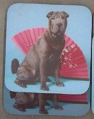 BLUE SHAR PEI Rubber Backed Coasters #0547
