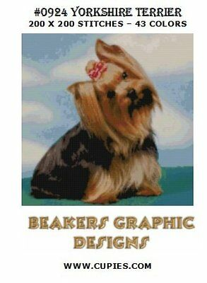 YORKSHIRE TERRIER Counted Cross Stitch detailed #0924 YORKIE