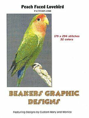 LOVEBIRD PEACH FACED Counted Cross Stitch detailed #0288