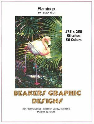 FLAMINGO Counted Cross Stitch detailed #0973